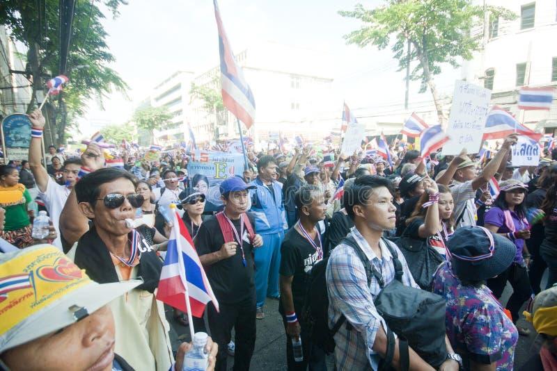Anti- thailändischer Regierungsprotest  stockbild