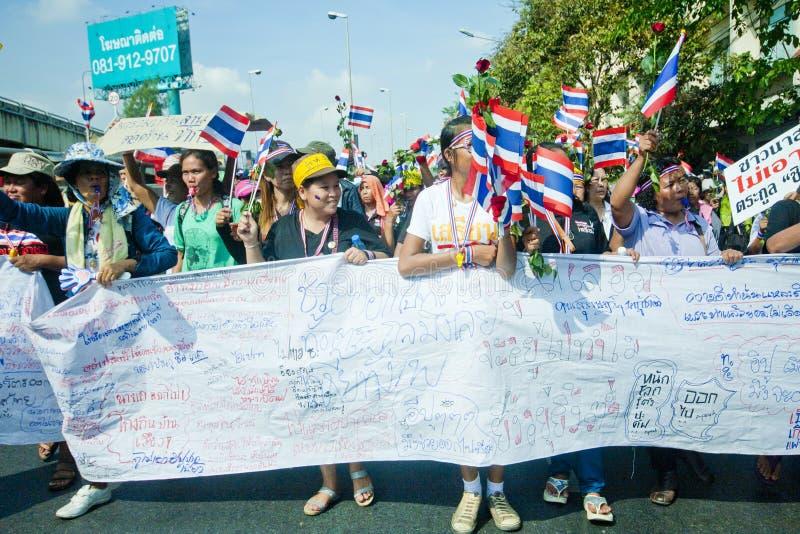 Anti- thailändischer Regierungsprotest  lizenzfreie stockfotografie