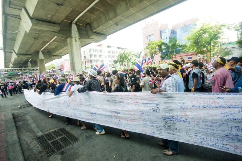 Anti- thailändischer Regierungsprotest  stockfotos
