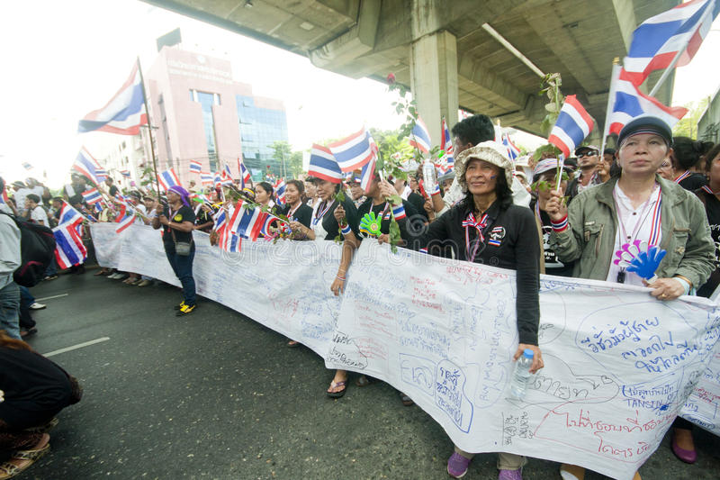 Anti- thailändischer Regierungsprotest  lizenzfreies stockfoto