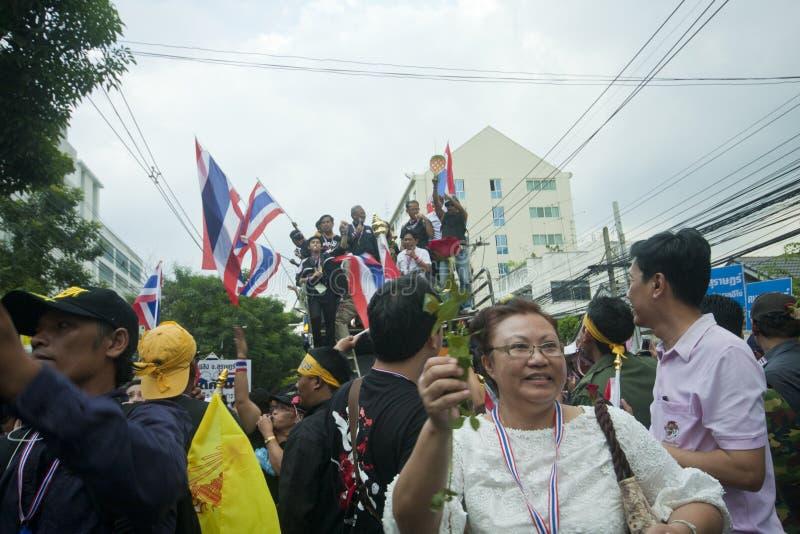 Anti- thailändischer Regierungsprotest stockfotografie