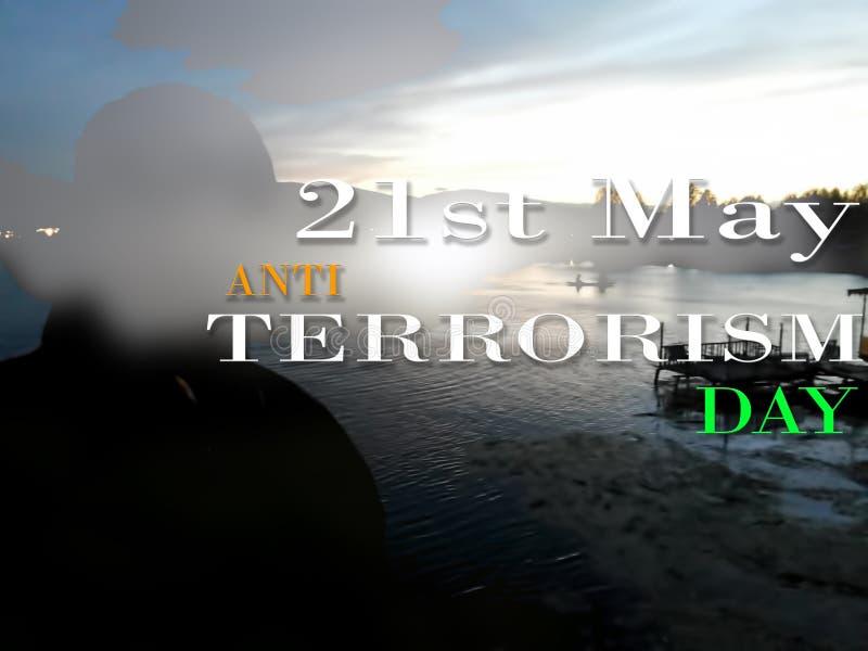 Anti tipo fondo del manifesto di giorno del terrorismo di immagine immagini stock libere da diritti
