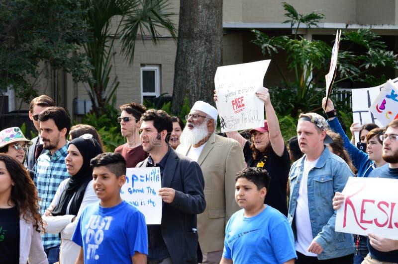 Anti-Trumpf-Protest, Tallahassee, Florida lizenzfreies stockbild
