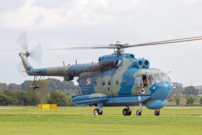 Anti--ubåt Mi-14 helikopter royaltyfria foton