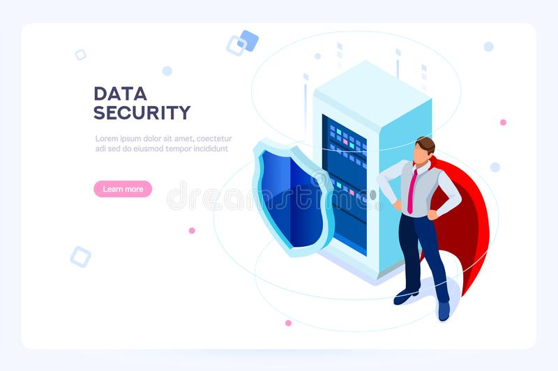 Anti Virus Protection Secure hard Data Base royalty free illustration