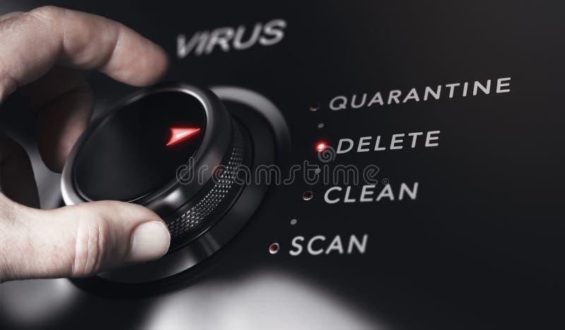 Anti-virusskydd, upptäckt och borttagningsprogram vektor illustrationer