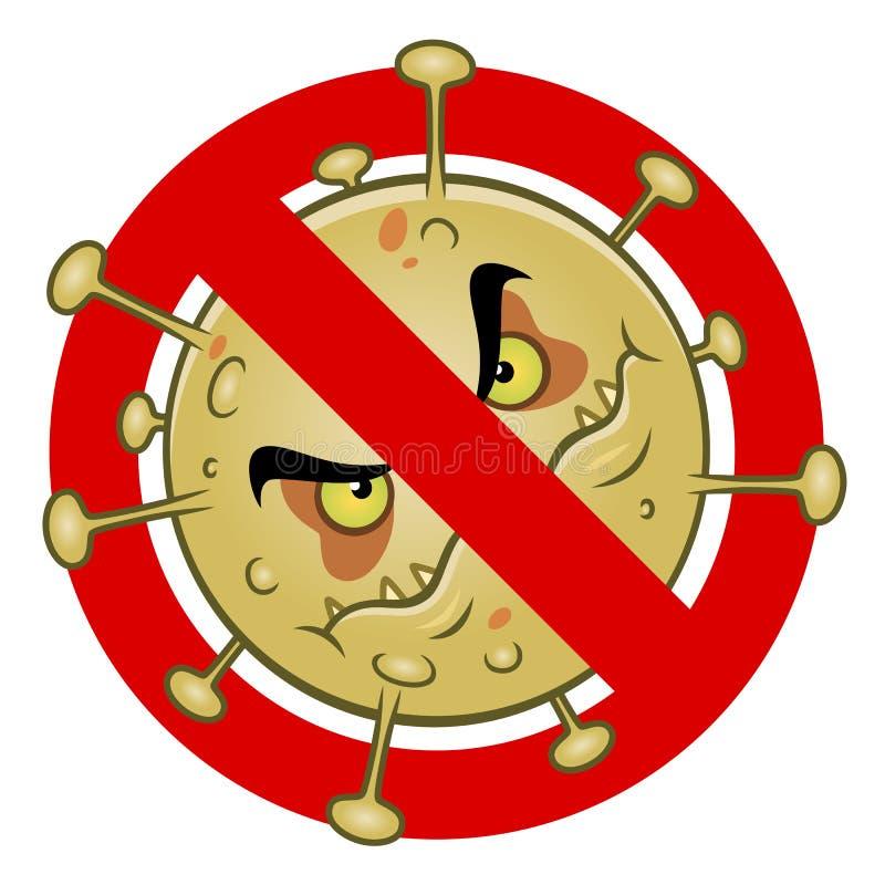Anti-virustecken stock illustrationer
