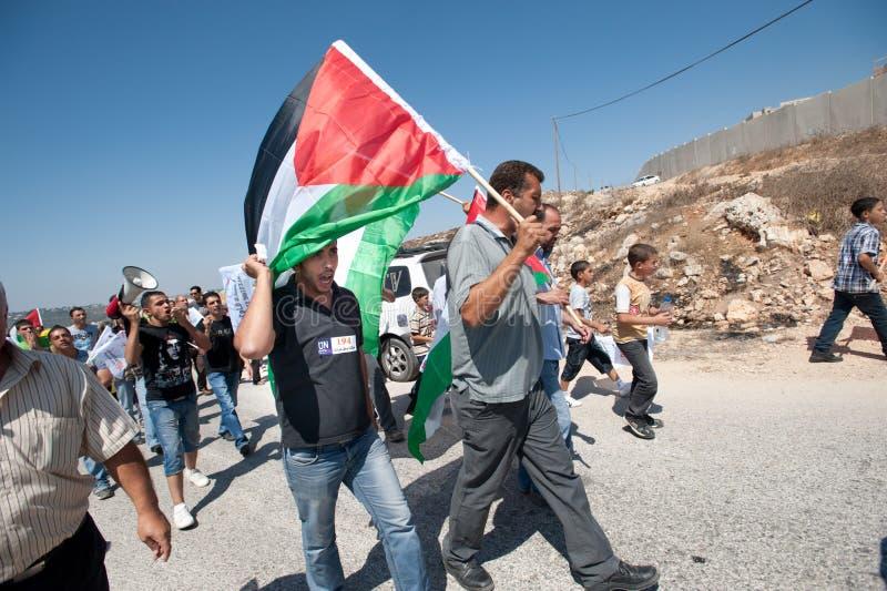 Anti-wall Demonstration, Al-Walaja royalty free stock photography