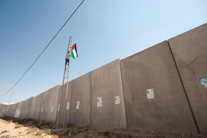 Anti-wall Demonstration, Al-Walaja stock images