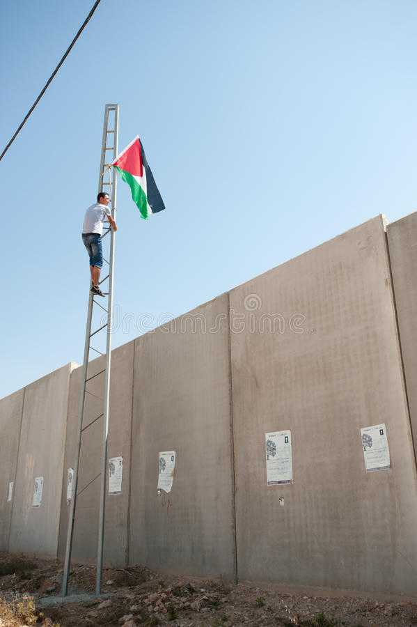 Anti-wall Demonstration, Al-Walaja royalty free stock photos