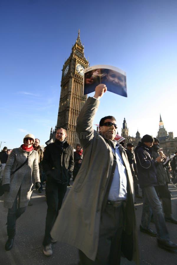 Anti-war demonstration in London stock image