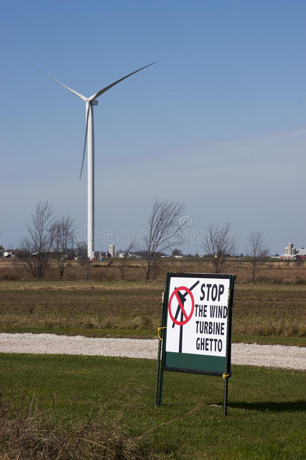 Download Anti Windmill Turbine Protest Green Wind Energy Stock Image - Image: 16788163
