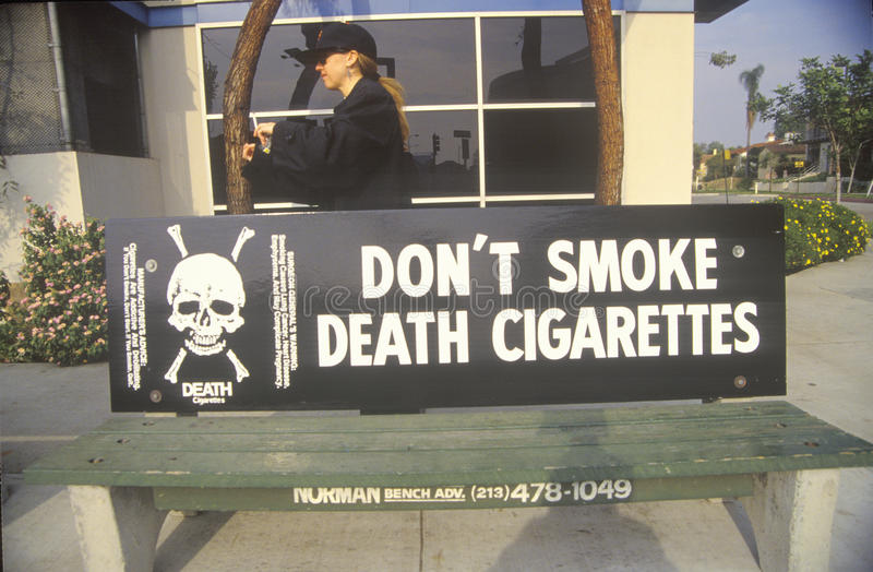 Anti-Zigarette Slogan stockfotografie