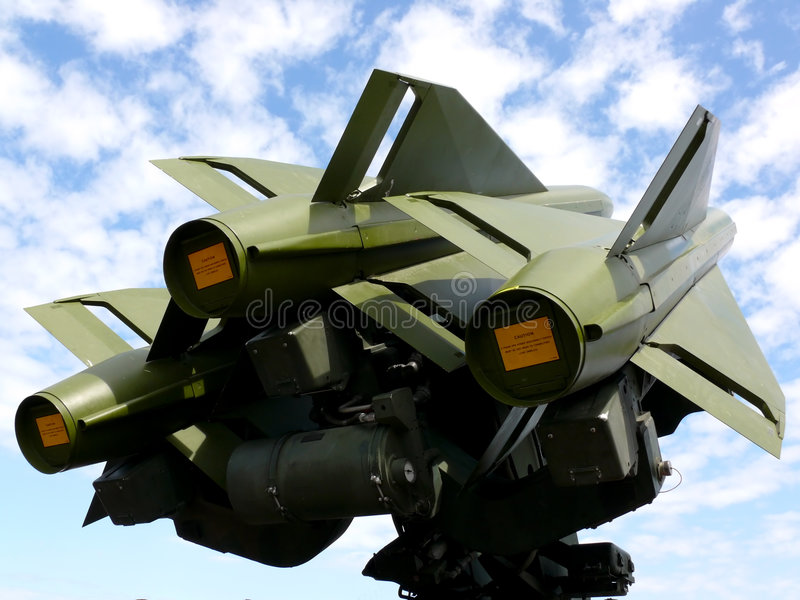 antiaircraft missiler arkivbilder