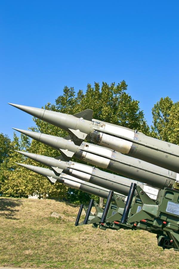 antiaircraft raket arkivbild