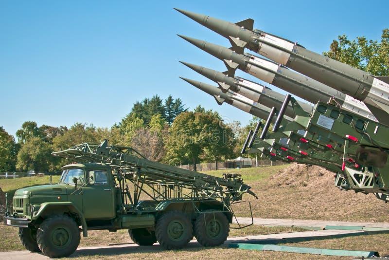 antiaircraft raket royaltyfri foto