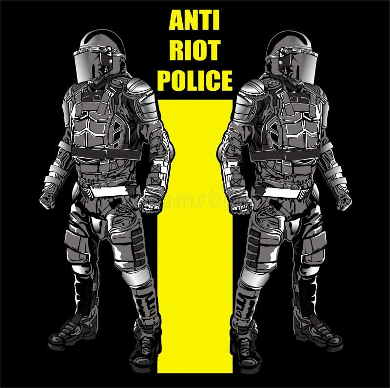 ANTIaufstand POLICE3 stock abbildung