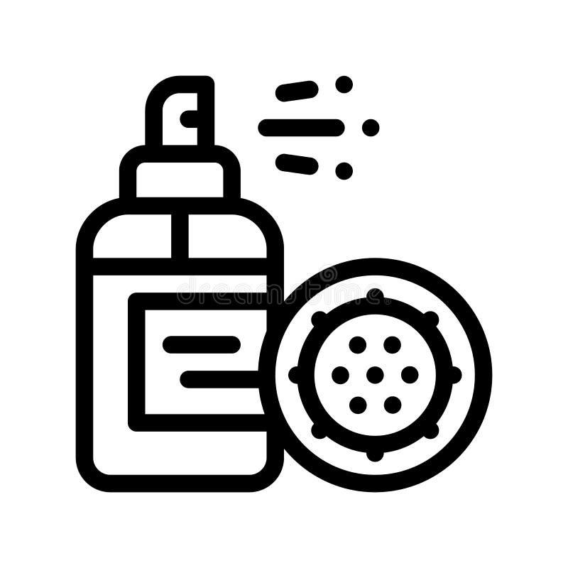 Antibacteria pulveriza o ícone do sinal do vetor do micróbio da matança ilustração royalty free