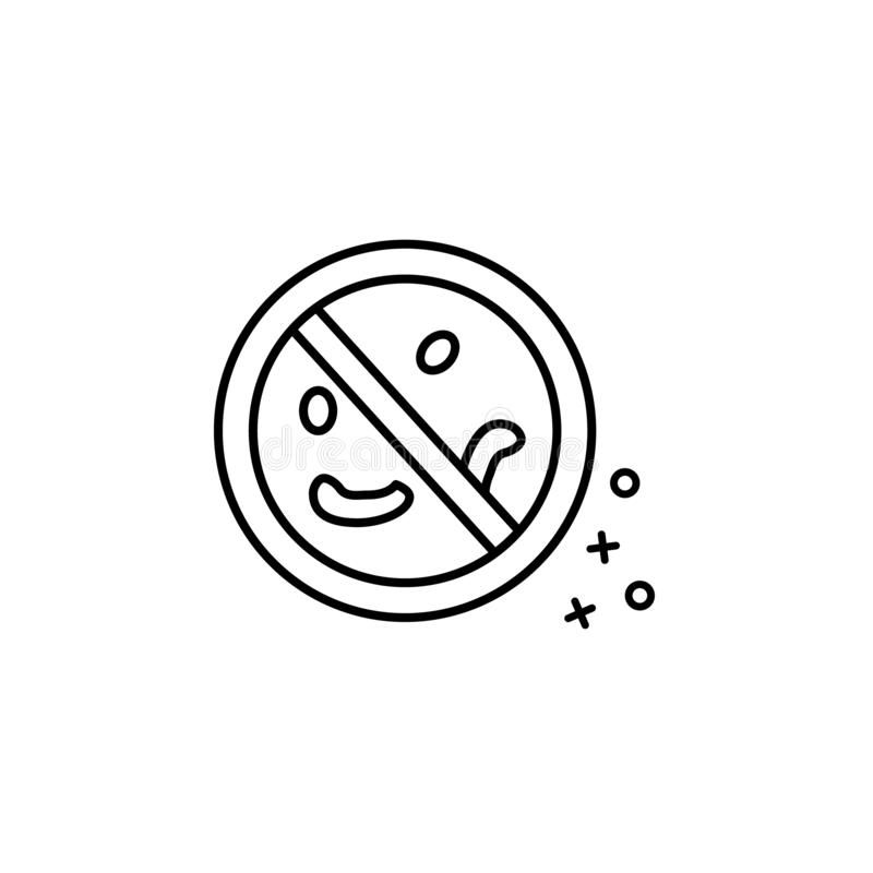 Antibacterial allergy no health icon. Element of fabric features icon. On white background royalty free illustration