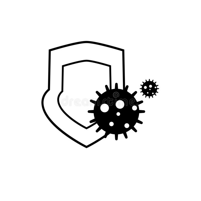 Antibacterial protection vector icon. On white background royalty free illustration