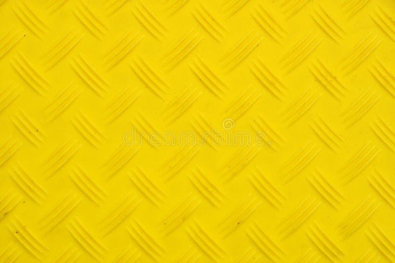 Antibeleggelb-Plastikplatte mit Diamantmuster lizenzfreies stockfoto