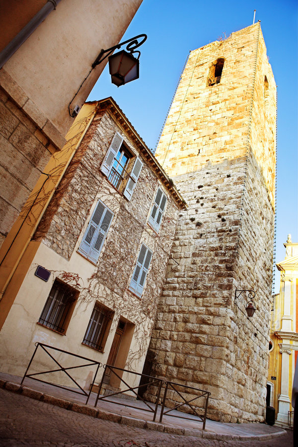 Antibes #39. Old buildings in Antibes, France royalty free stock image