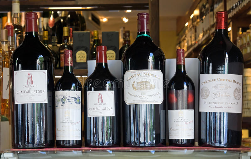 Antibes - Chateau wines royalty free stock images
