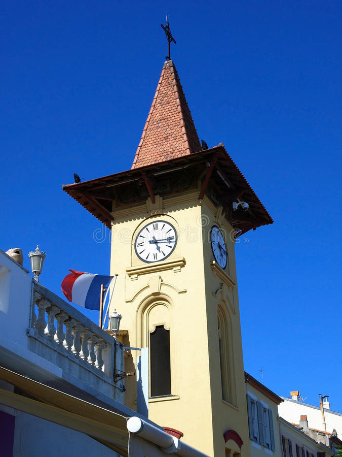 Antibes clock tower stock photography