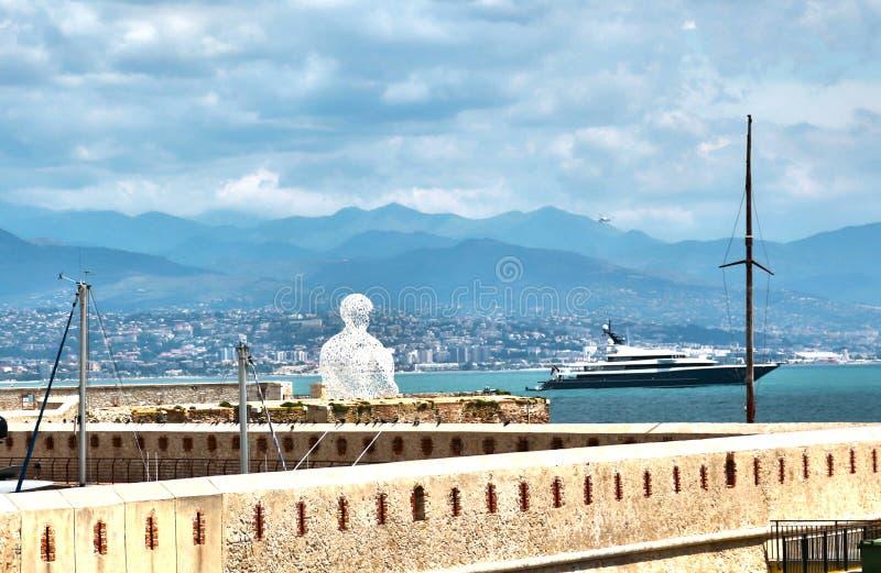 Antibes, França - 16 de junho de 2014: Saint Jaume do bastião imagem de stock royalty free