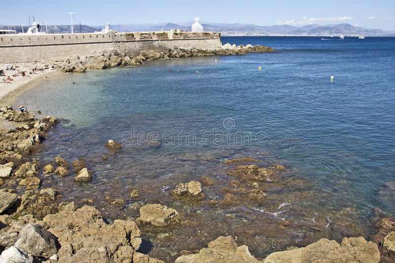 Antibes, France. Port of Antibes, French Riviera royalty free stock photo