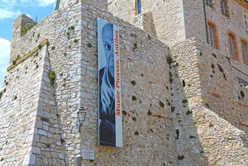 Antibes, Francia - 16 giugno 2014: Museo di Picasso fotografie stock libere da diritti