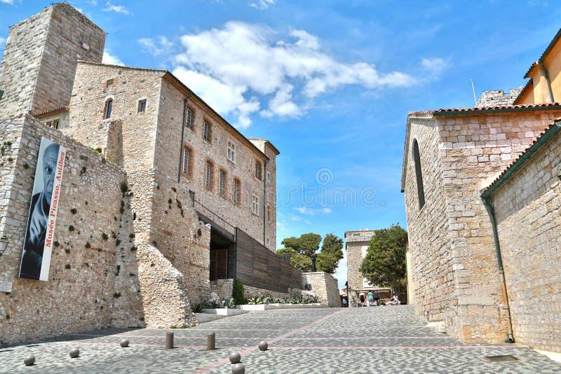 Antibes, Francia - 16 giugno 2014: Museo di Picasso immagine stock libera da diritti