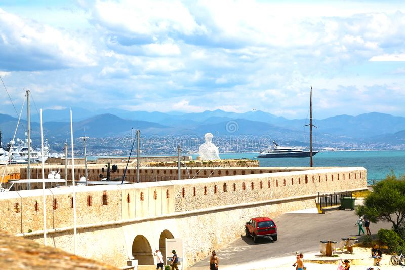 Antibes, Francia - 16 giugno 2014: San Jaume del bastione fotografie stock