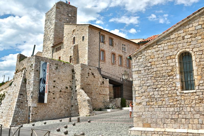 Antibes, Frankreich - 16. Juni 2014: Picasso-Museum lizenzfreies stockfoto