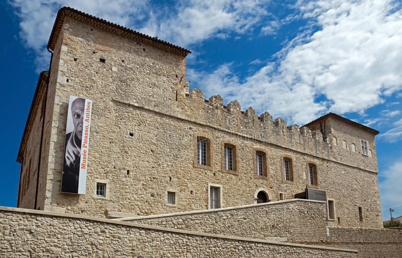 Antibes - Grimaldi Castle. ANTIBES, FRANCE - MAY 6: Grimaldi Castle on May 6, 2013 in Antibes, France. Grimaldi Castle now is the Picasso Museum, where are stock photos
