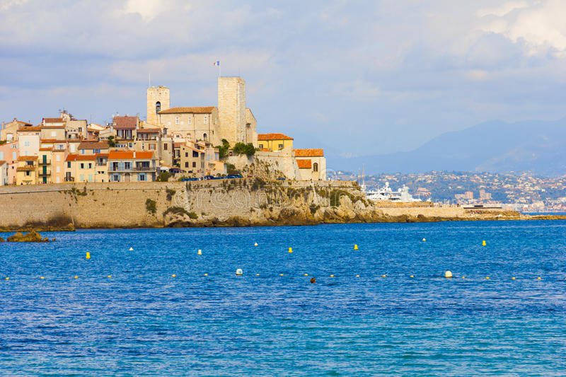 Antibes söder av Frankrike royaltyfria bilder