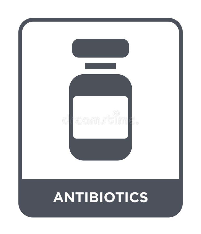 antibiotics icon in trendy design style. antibiotics icon isolated on white background. antibiotics vector icon simple and modern stock illustration