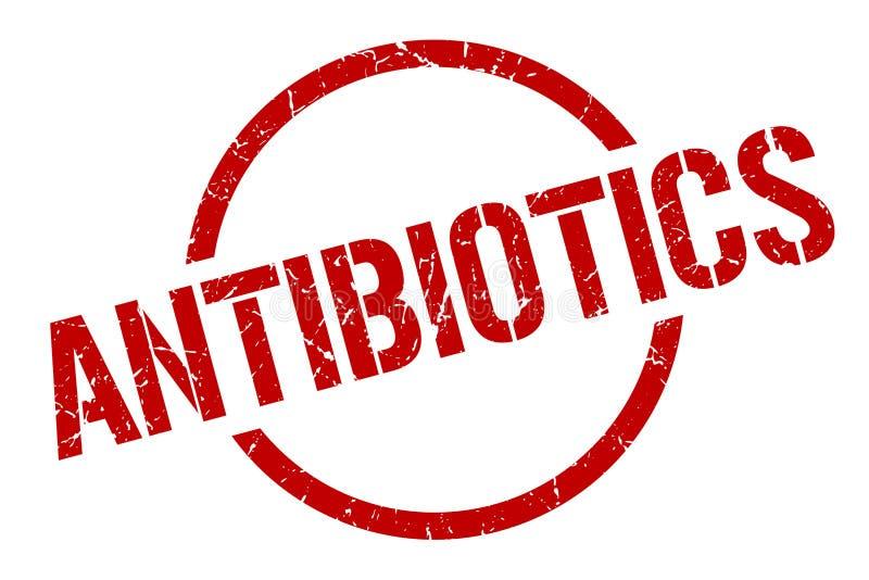 antibiotics stamp royalty free illustration