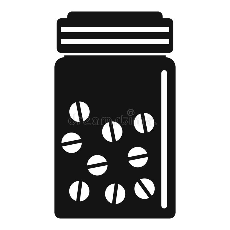 Antibiotisch pillenpictogram, eenvoudige stijl stock illustratie
