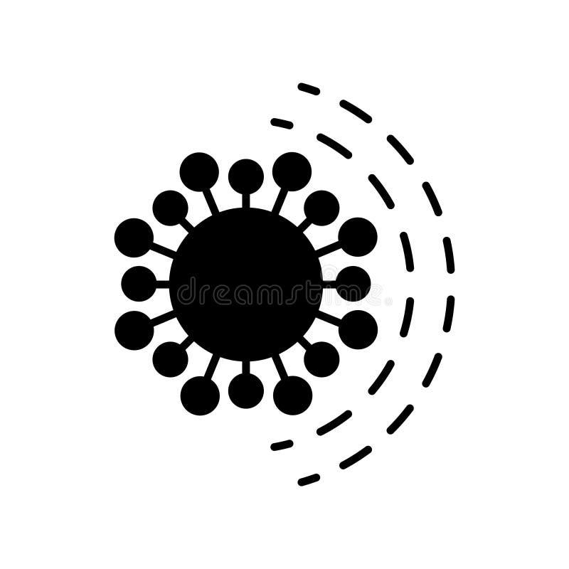 Antibiotisch weerstandspictogram op een witte achtergrond royalty-vrije illustratie