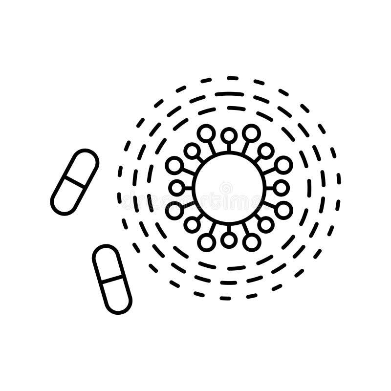 Antibiotisch weerstandspictogram op een witte achtergrond stock illustratie
