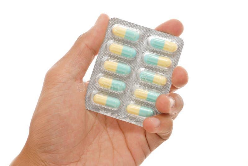 Antibiotische Geneeskunde stock afbeeldingen