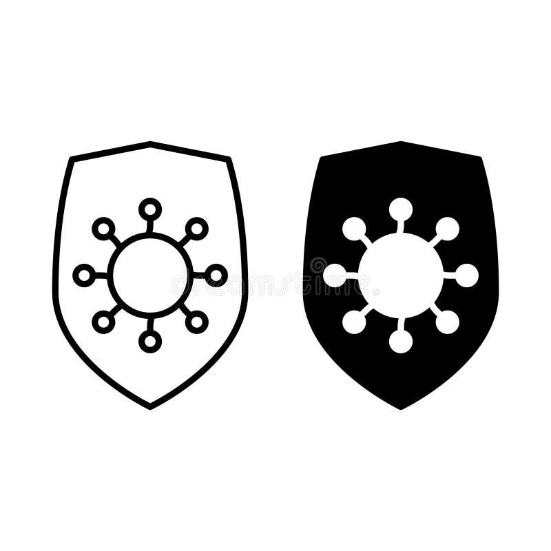Antibiotisk motståndssymbol på en vit bakgrund vektor illustrationer