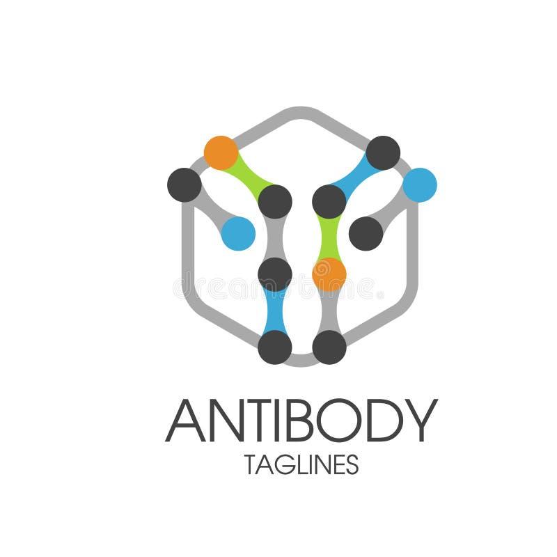 Antibody logo vector illustration