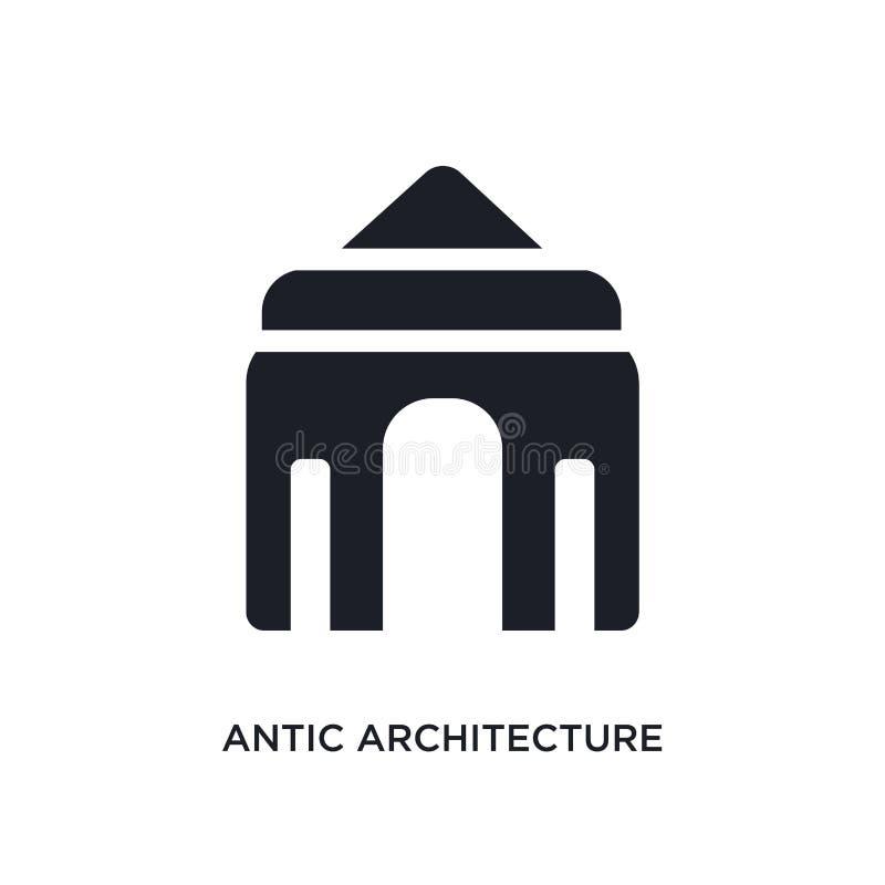antic απομονωμένο αρχιτεκτονική εικονίδιο απλή απεικόνιση στοιχείων από τα εικονίδια έννοιας μουσείων antic σημάδι λογότυπων αρχι ελεύθερη απεικόνιση δικαιώματος
