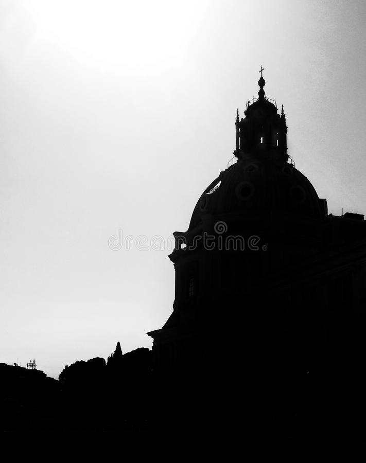 Antic church. Antic building in Roma city, Italy stock images