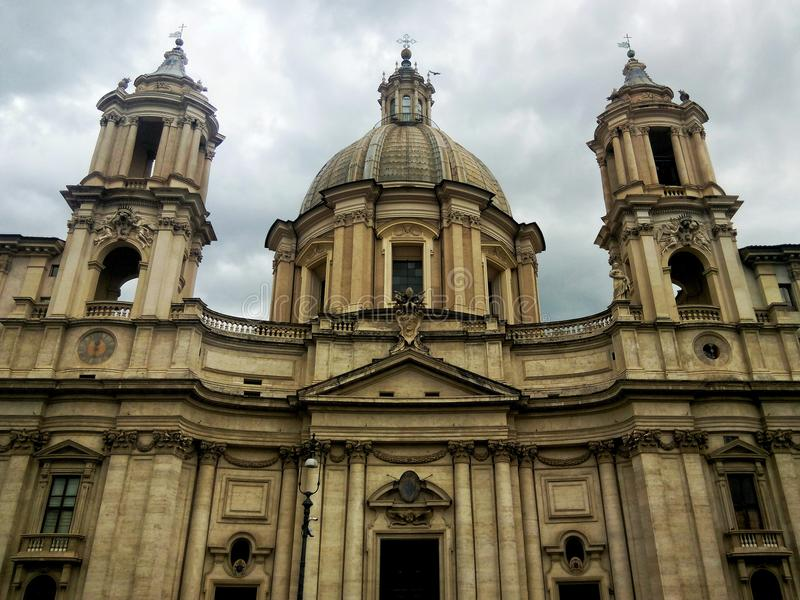 Antic church. Antic ruins in Roma city royalty free stock images