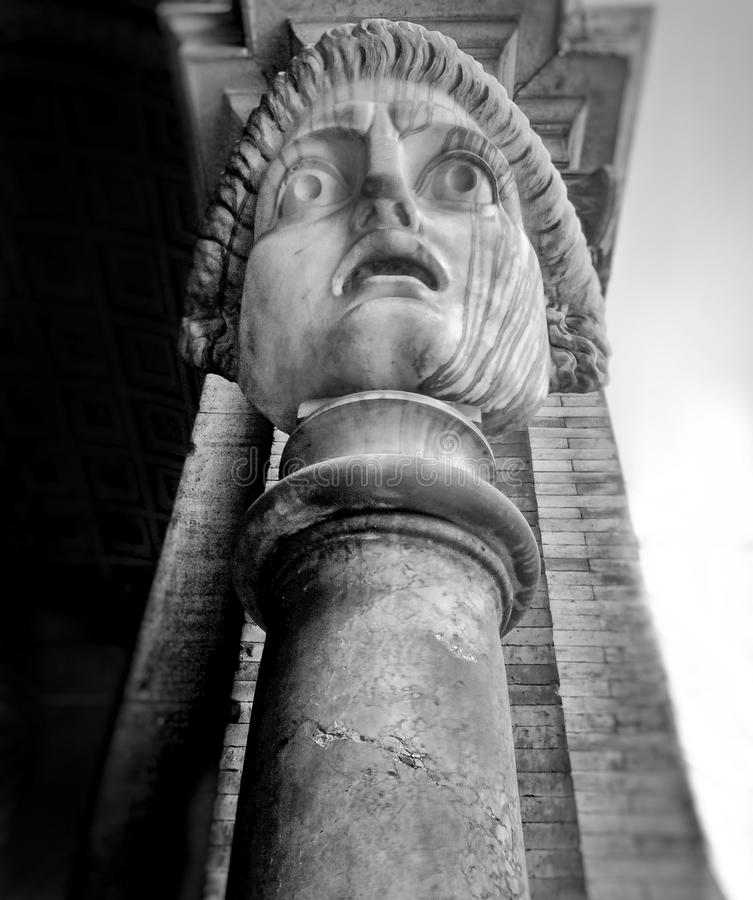 Antic statue. In Vatican city. Black and White royalty free stock photos