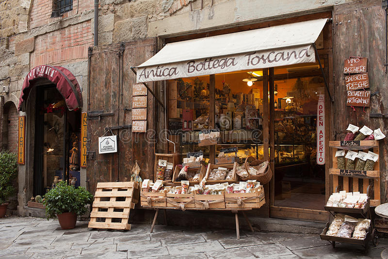 Antica Bottega Toscana Arezzo Italien royaltyfria foton