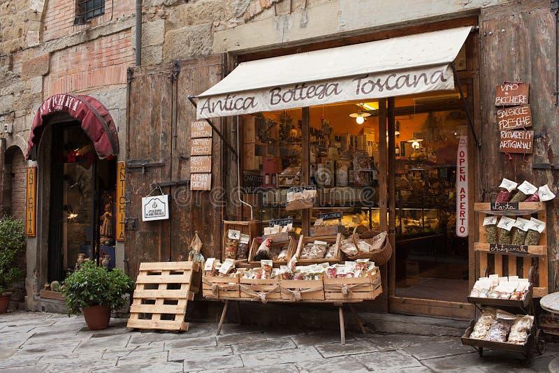 Antica Bottega Toscana Arezzo Italy. AREZZO, ITALY - JANUARY 9, 2016: Antica Bottega Toscana, one of the oldest shops of the city of Arezzo where are sold the royalty free stock photos